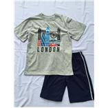 Thời trang trẻ em : Bộ Place - London xám