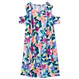 Thời trang trẻ em : Váy xòe rớt vai Gymborre - Hoa