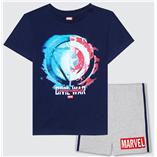 Thời trang trẻ em : Bộ Marvel 19 - Màu Xanh Đen
