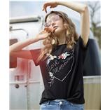 Thời trang trẻ em : Áo Oriana thêu - đen