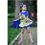 Thời trang trẻ em : Váy vẽ cách tân 005