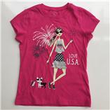 Thời trang trẻ em : Áo thun Place - Love USA