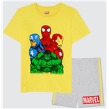 Thời trang trẻ em : Bộ Marvel 19 - Màu Vàng