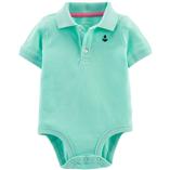 Thời trang trẻ em : Body Suit tam giác có cổ - Màu xanh ngọc chiếc thuyền