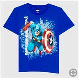 Thời trang trẻ em : Áo đại Marvel 19 - Màu Xanh Dương