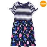 Thời trang trẻ em : Váy thun Gymboree - sọc xanh đen