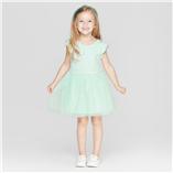 Thời trang trẻ em : Váy thun tay cánh tiên - xanh ngọc