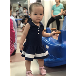 Thời trang trẻ em : Váy Tommy - Xanh navy