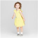 Thời trang trẻ em : Váy thun tay cánh tiên - vàng chanh