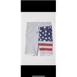 Thời trang trẻ em : Quần đùi HM chất da cá - màu xám cờ mỹ