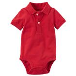 Thời trang trẻ em : Body Suit tam giác có cổ - Màu đỏ