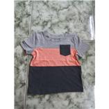 Thời trang trẻ em : Áo Jumping Beans bé trai - Sọc Cam Xám