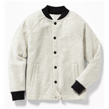 Thời trang trẻ em : Áo khoác Bomber Oldnavy - Ghi sáng