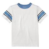 Thời trang trẻ em : Áo thun Gymboree - Trắng Tay kẻ