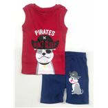 Thời trang trẻ em : Bộ borip bé Trai - Chó mặt bự