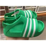 Thời trang trẻ em : SANDAL ADIDAS - xanh lá đậm viền trắng