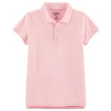 Thời trang trẻ em : Áo thun trơn có cổ - Màu hồng phấn bé gái