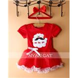 Thời trang trẻ em : HQ516 - Váy Giáng Sinh