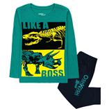 Thời trang trẻ em : Bộ dài Oshkosh - khủng long xanh lá
