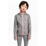 Áo khoác bé gái H&M - Xám Viền Hồng
