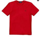 Thời trang trẻ em : Áo thun cổ tim Polo - Đỏ