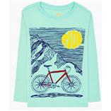 Thời trang trẻ em : Áo thun tay dài Gymboree - xe đạp