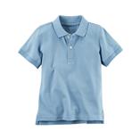Thời trang trẻ em : Áo thun trơn có cổ - Màu xanh lơ