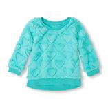 Thời trang trẻ em : Áo lông cừu - Tim xanh ngọc