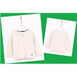 Áo len chui đầu CỔ TIM Zara - Kem