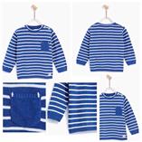 Thời trang trẻ em : Áo len kẻ ZARA bé trai - kẻ xanh dương