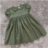 Thời trang trẻ em : Váy Smock Gocco - xanh rêu