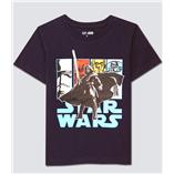 Thời trang trẻ em : Áo thun Gap - Star wars xanh den