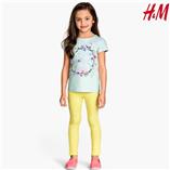 Thời trang trẻ em : Quần jeging da H&M - Vàng