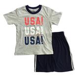 Thời trang trẻ em : Bộ Place - USA Xám