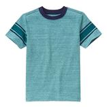 Thời trang trẻ em : Áo thun Gymboree - Xanh đậm tay kẻ