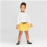 Thời trang trẻ em : Bộ Cat & Jack -   áo sọc, váy vàng