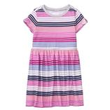 Thời trang trẻ em : Váy thun Gymboree - Sọc tím