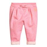 Thời trang trẻ em : Quần Joggers nỉ da cá lưng chun lật lai -H&M, hồng gach