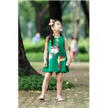 Thời trang trẻ em : Váy vẽ cách tân 006