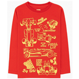 Thời trang trẻ em : Áo thun tay dài Gymboree - xe đua