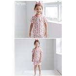 Thời trang trẻ em : Bộ cotton giấy hãng The Minou xuất Hàn - Hồng