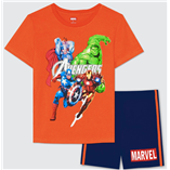 Thời trang trẻ em : Bộ Marvel 19 - Màu Cam