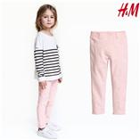 Thời trang trẻ em : Quần jeging da H&M - Hong trơn
