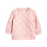 Thời trang trẻ em : Áo nỉ Dập hình bé gái - hồng phấn