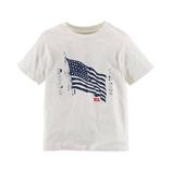 Thời trang trẻ em : Áo thun   Polo in hình cờ mỹ