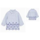 Thời trang trẻ em : Zara vạt thêu hoa - sọc xanh