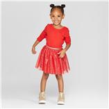 Thời trang trẻ em : Váy tay dài phối chân váy voan