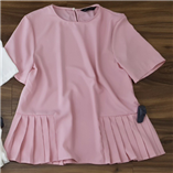 Thời trang trẻ em : Áo zara dang peblum - hồng