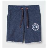 Thời trang trẻ em : Quần Shorts Da cá Lưng chun bo dệt bé trai. H&M