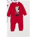 Thời trang trẻ em : Body Suit dài - Minie đỏ